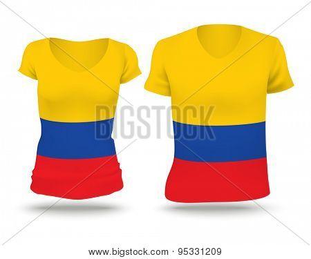 Flag shirt design of Colombia - vector illustration