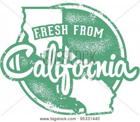 Fresh from California Vintage Stamp