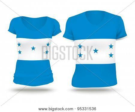 Flag shirt design of Honduras - vector illustration