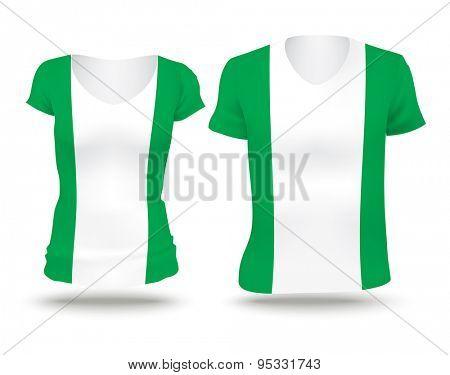 Flag shirt design of Nigeria - vector illustration