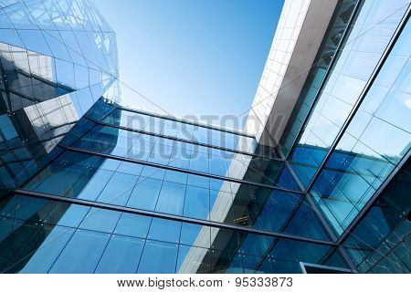 Tianjin,china-May 24,2015:low angle view modern office building exterior in tianjin.