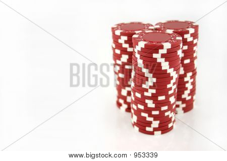 Red Casino Chips 3 pilhas completa