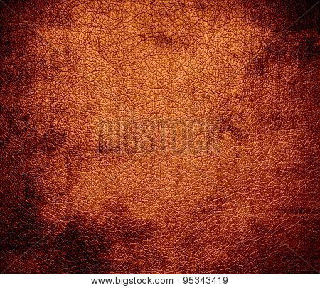 Grunge background of cinnamon leather texture