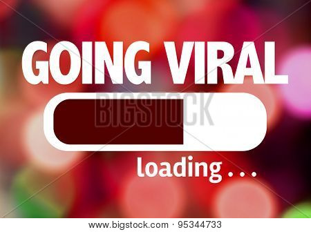 Progress Bar Loading with the text: Going Viral