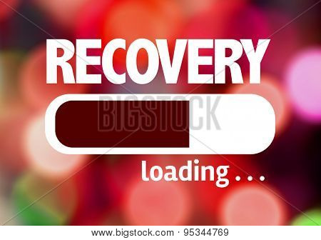 Progress Bar Loading with the text: Recovery
