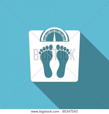 weight flat icon  original modern design flat icon for web and mobile app with long shadow