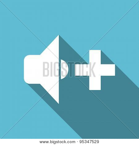 speaker volume flat icon music sign original modern design flat icon for web and mobile app with long shadow