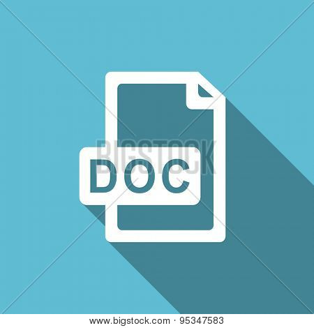 doc file flat icon  original modern design flat icon for web and mobile app with long shadow