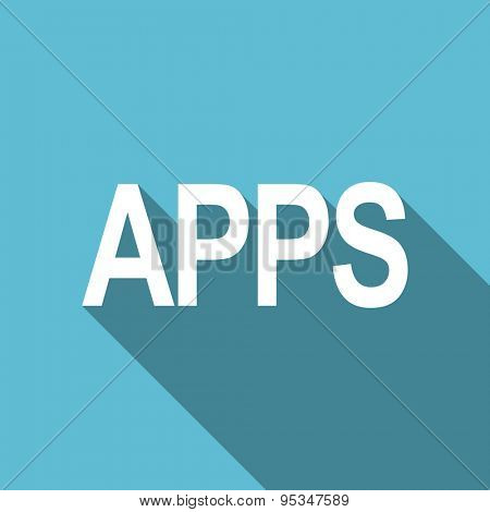 apps flat icon  original modern design flat icon for web and mobile app with long shadow