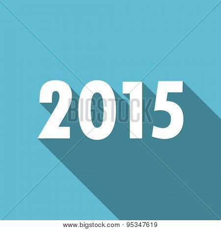 new year 2015 flat icon new years symbol original modern design flat icon for web and mobile app with long shadow