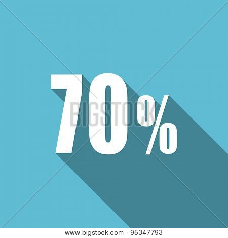 70 percent flat icon sale sign original modern design flat icon for web and mobile app with long shadow