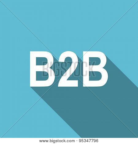 b2b flat icon  original modern design flat icon for web and mobile app with long shadow