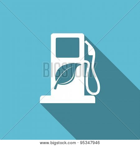 biofuel flat icon bio fuel sign original modern design flat icon for web and mobile app with long shadow