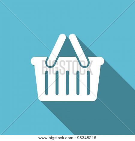 cart flat icon shopping cart symbol original modern design flat icon for web with long shadow