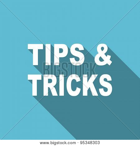 tips tricks flat icon  original modern design flat icon for web and mobile app with long shadow