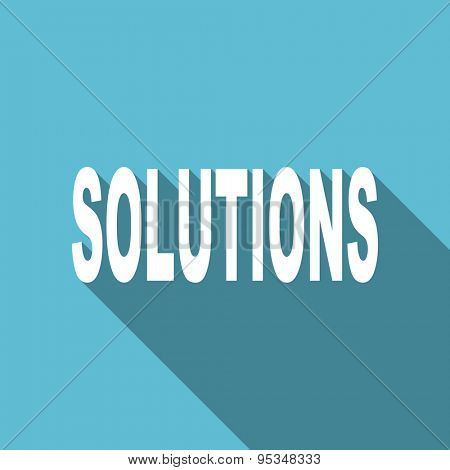 solutions flat icon  original modern design flat icon for web and mobile app with long shadow