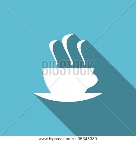espresso flat icon hot cup of caffee sign original modern design flat icon for web and mobile app with long shadow