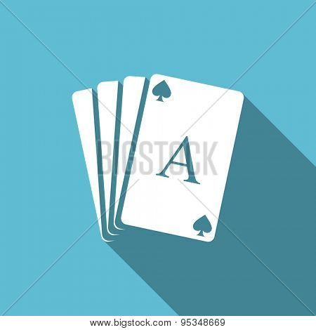 casino flat icon hazard sign original modern design flat icon for web and mobile app with long shadow