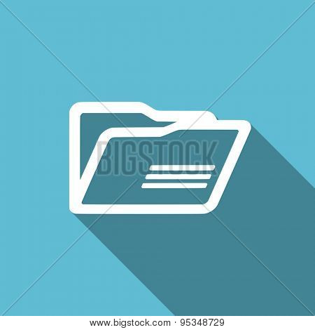 folder flat icon  original modern design flat icon for web and mobile app with long shadow