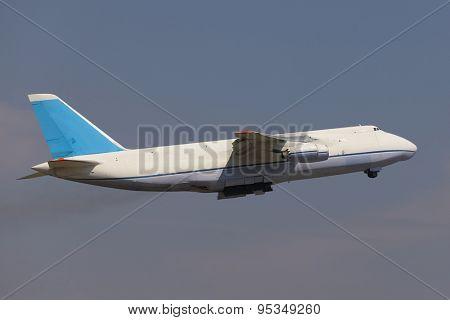 Huge cargo plane on the runway