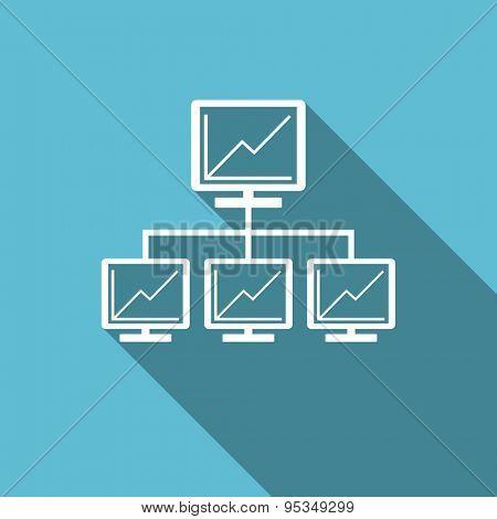 network flat icon lan sign
