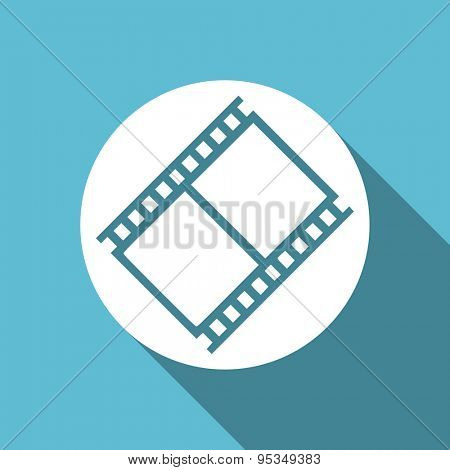 film flat icon movie sign cinema symbol original modern design flat icon for web and mobile app with long shadow