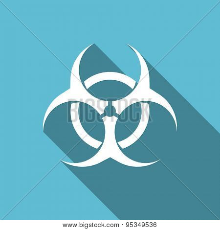biohazard flat icon virus sign original modern design flat icon for web and mobile app with long shadow