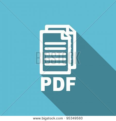 pdf flat icon pdf file sign original modern design flat icon for web and mobile app with long shadow