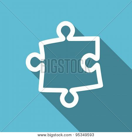 puzzle flat icon  original modern design flat icon for web and mobile app with long shadow