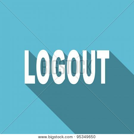 logout flat icon  original modern design flat icon for web and mobile app with long shadow