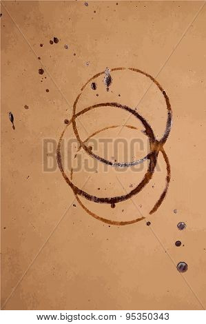 Brown paper with coffee stain