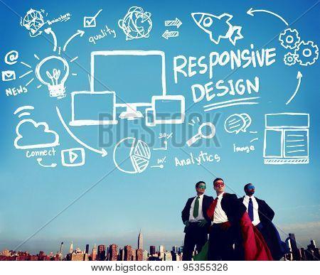 Responsive Design Responsive Quality Analytics Immagination Concept