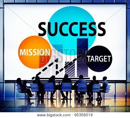 Success Mission Tarket Buisness Growth Planning Concept