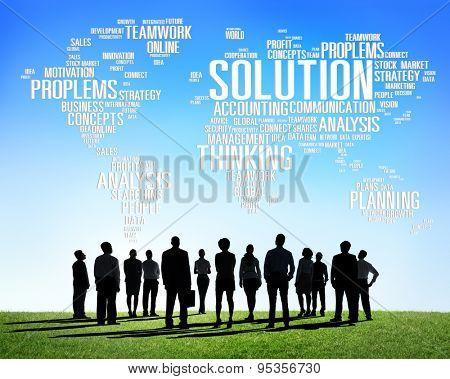 Solution Solve Problem Strategy Vision Decision Concept