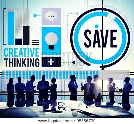Save Money Economical Creative Control Budget Profits Concept