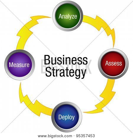 An image of a business strategy icon.