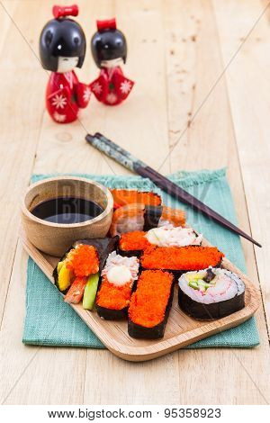 Japanese Sushi Traditional Food.