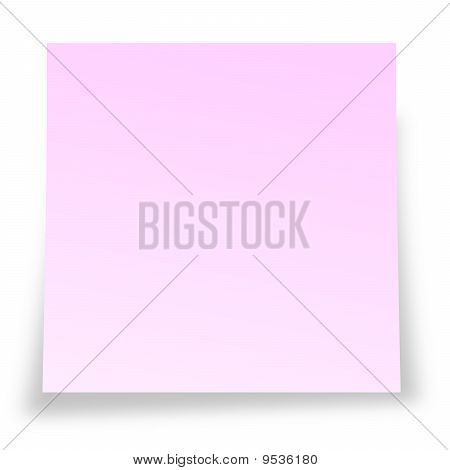 Pink notelet