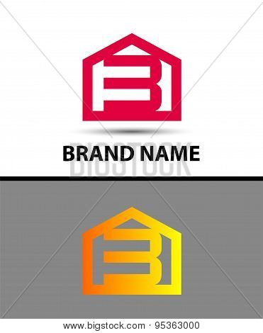 Number 3 logo. Vector logotype design with house icon