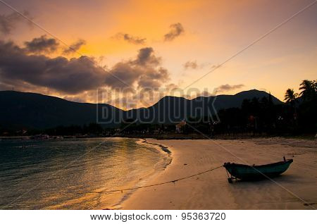 Beautiful sunset in Con Dao island, Vietnam