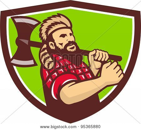 Lumberjack Axe Shield Retro