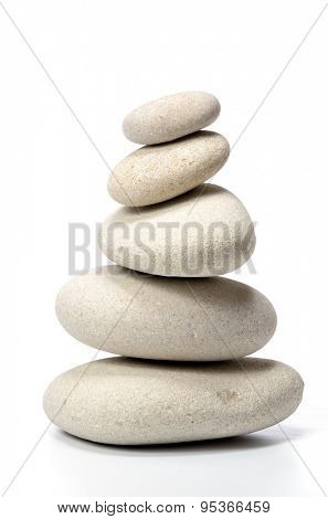 pile of stones isolated on white background
