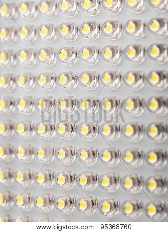 LED panel with light emitting diodes