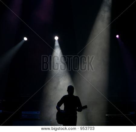 Silhouette Of A Guitar Player