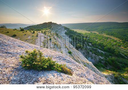 Mountain panorama landscape. Nature composition.