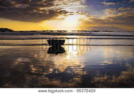 Sunrise on My Khe beach, Danang, Vietnam