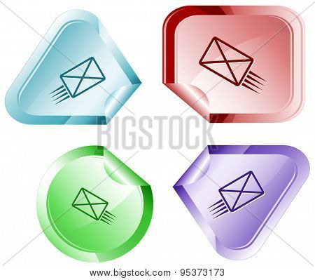 send mail. Vector sticker.