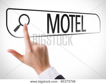 Motel written in search bar on virtual screen
