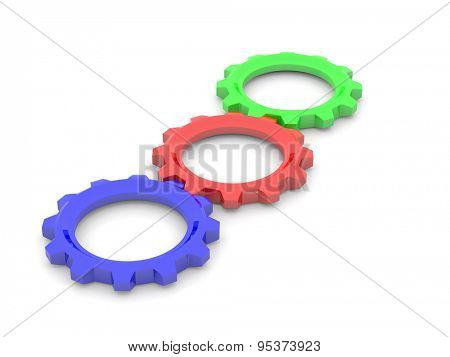 RGB, red, green, blue, primary color concept. 3d