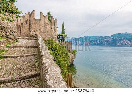 Beautiful peaceful lake Garda, Italy